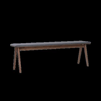 Fidel Bench 1.5m - Walnut, Dim Grey - Image 2