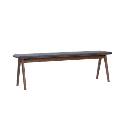 Fidel Bench 1.5m - Walnut, Dim Grey - Image 2