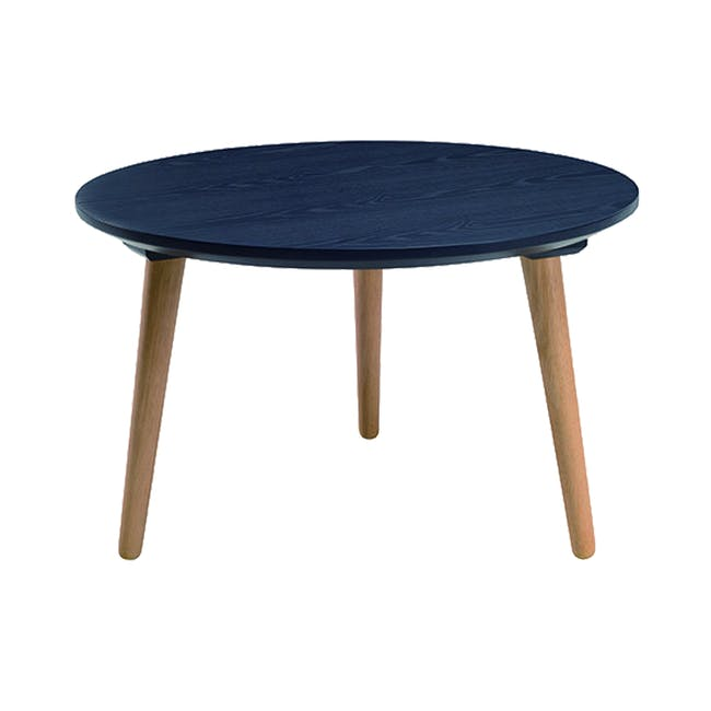 Carsyn Round Coffee Table - Marine Blue - 0