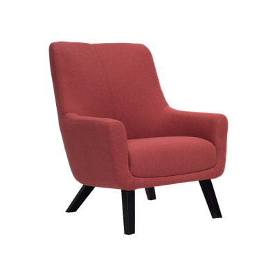 Alicia Lounge Chair - Indian Red - Image 1