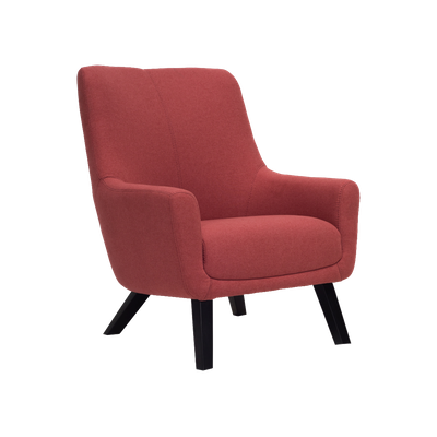 (As-is) Alicia Lounge Chair - Indian Red - 1 - Image 1