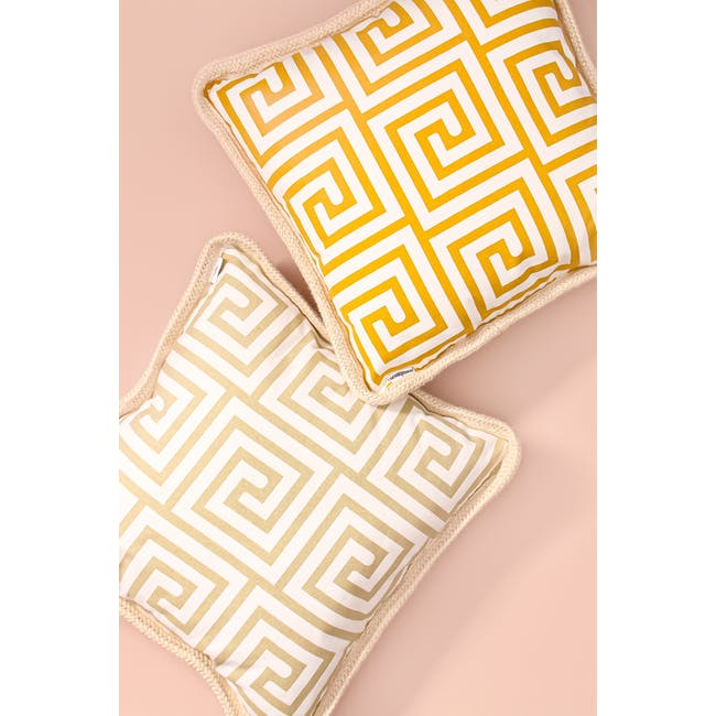Lost in Tokyo Throw Cushion - Yellow - 1