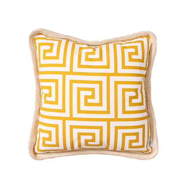 Lost in Tokyo Throw Cushion - Yellow - 0