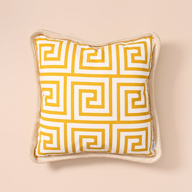 Lost in Tokyo Throw Cushion - Yellow - 3