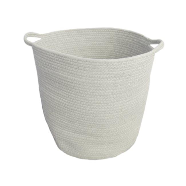Celine Cotton Rope Bucket - White - 0