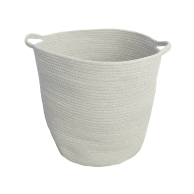 Celine Cotton Rope Bucket - White - Image 1