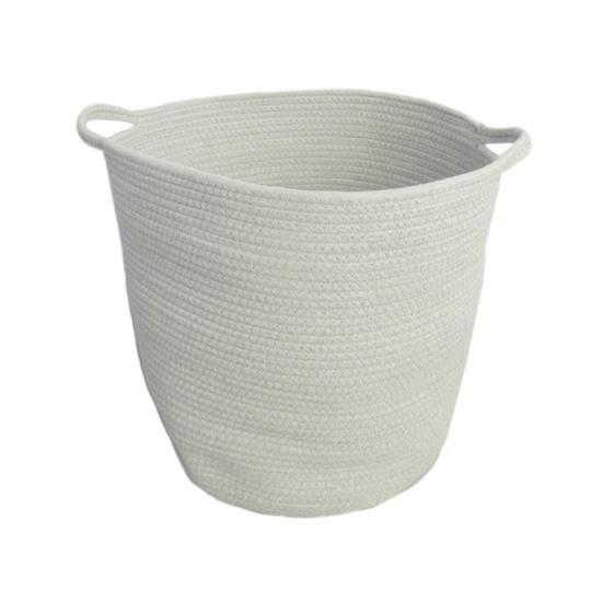 1688 - Celine Cotton Rope Bucket - White
