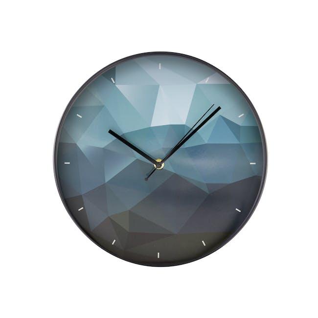 Sapphire Facet Wall Clock - 0