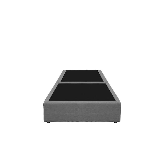 ESSENTIALS Single Box Bed - Grey (Fabric) - 1