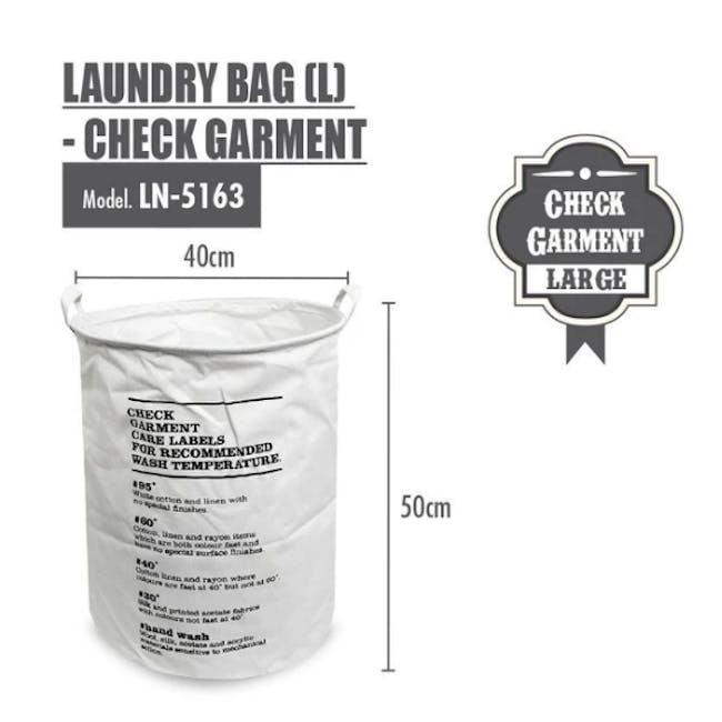 HOUZE Laundry Bag - Check Garment - 1