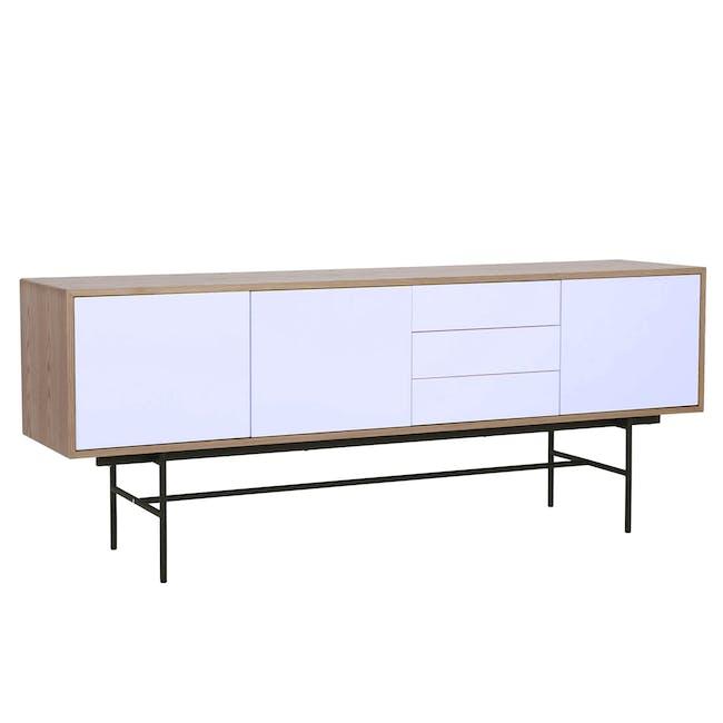 Bacchus Sideboard 2m - Oak, White - 1
