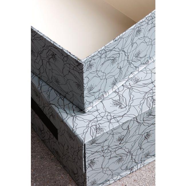 Flor Rectangle Storage Boxes - Blue (Set of 2) - 1