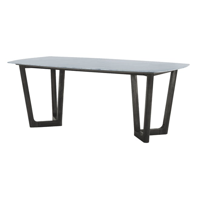 (As-is) Carson Marble Dining Table 2m - 0