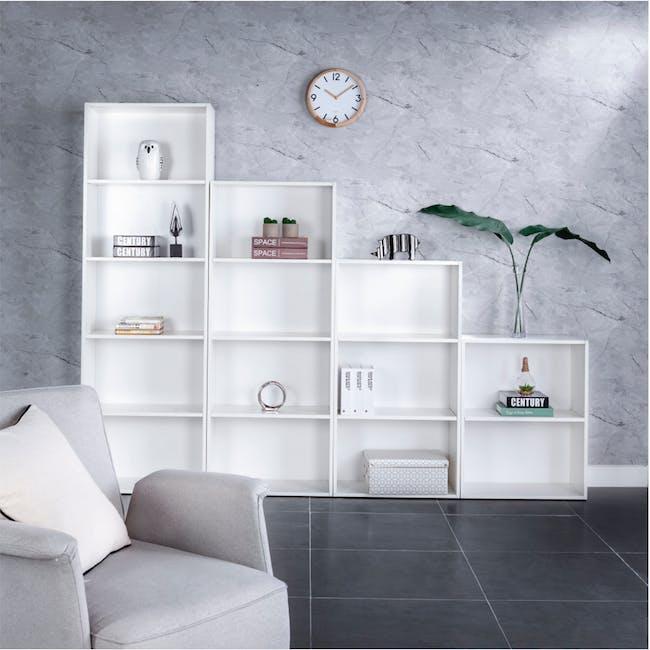 Hitoshi 3-Tier Bookshelf - White - 1