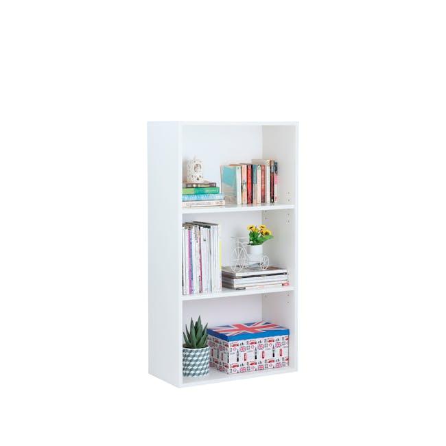 Hitoshi 3-Tier Bookshelf - White - 3
