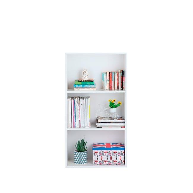 Hitoshi 3-Tier Bookshelf - White - 2