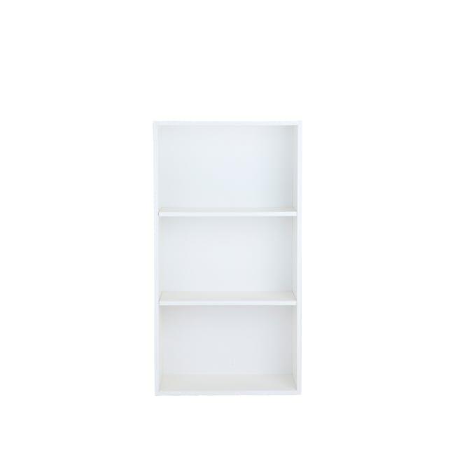 Hitoshi 3-Tier Bookshelf - White - 0