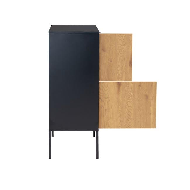 Sligo Tall Sideboard 0.8m - Black, Oak - 5