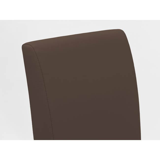 Dahlia Dining Chair - Cocoa, Mocha (Faux Leather) - 8