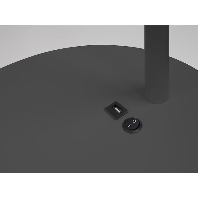 Hudson Floor Lamp with USB Port - Grey - 1