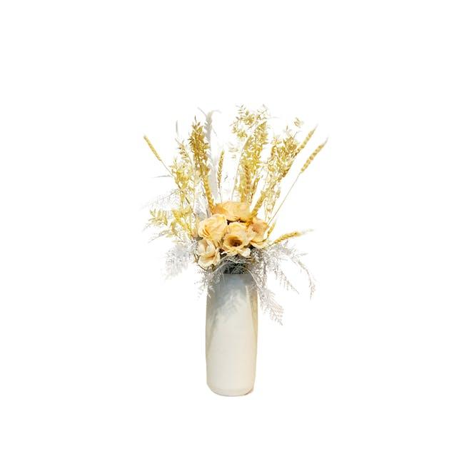 Large Cylinder Floral Clay Vase - Design 4 - 0