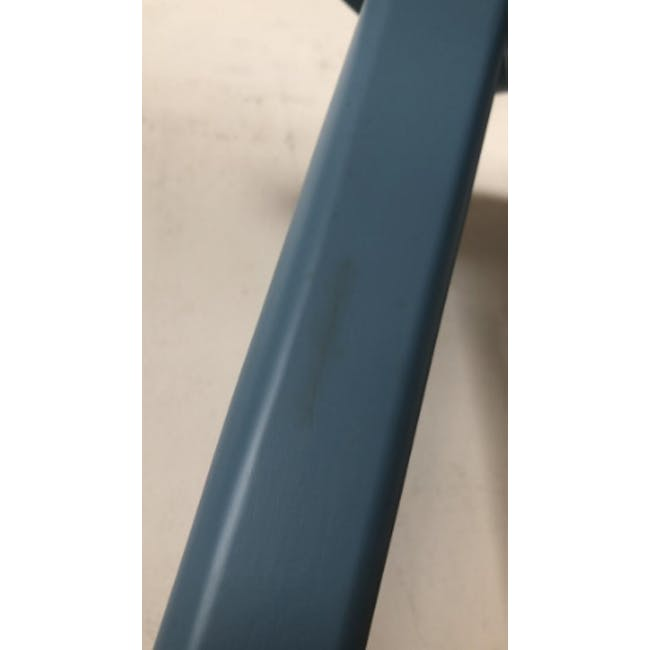 (As-is) Freya Counter Stool - Dust Blue Lacquered - 9 - 10