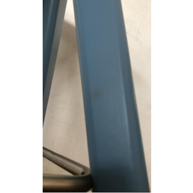 (As-is) Freya Counter Stool - Dust Blue Lacquered - 9 - 6