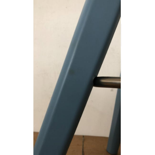(As-is) Freya Counter Stool - Dust Blue Lacquered - 9 - 9