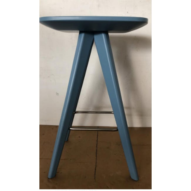 (As-is) Freya Counter Stool - Dust Blue Lacquered - 9 - 2
