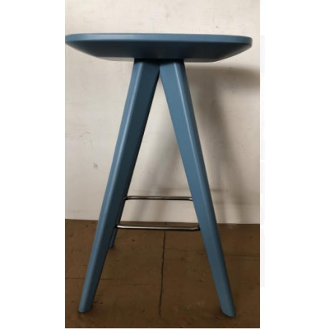 (As-is) Freya Counter Stool - Dust Blue Lacquered - 9 - 1