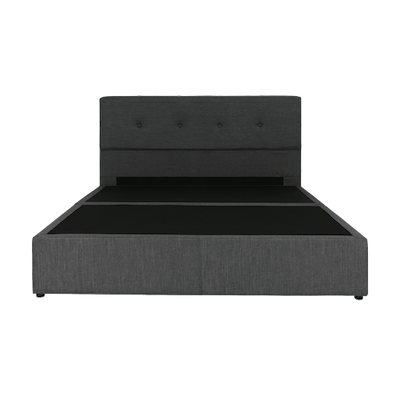ESSENTIALS Tufted Headboard Box Bed - Smoke (Fabric)- 4 Sizes - Image 1