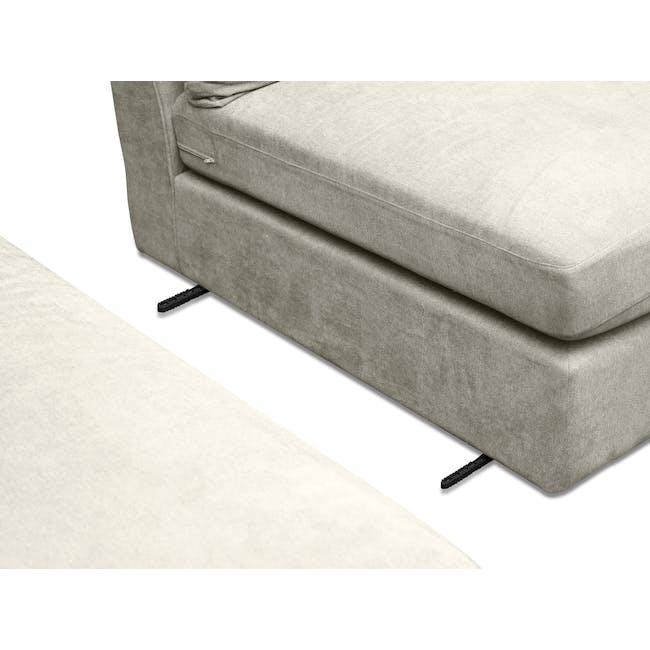 Ashley L-Shaped Lounge Sofa -Pearl - 6
