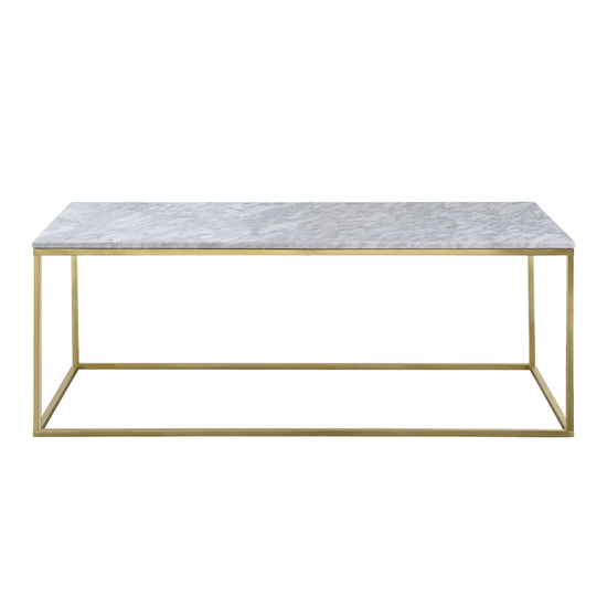 Amelia Marble Coffee Table With Amelia Marble Side Table White