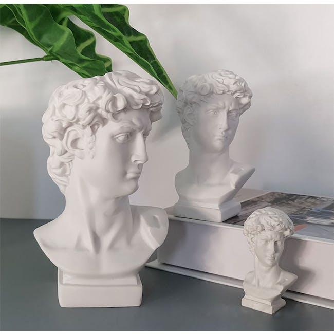 David's Head Sculpture - Small - White - 1
