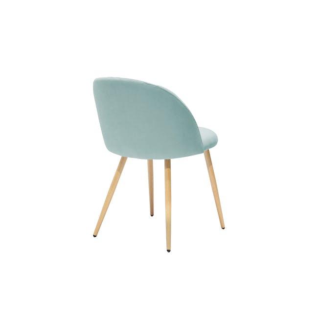 Chloe Dining Chair - Oak, Aquamarine - 4
