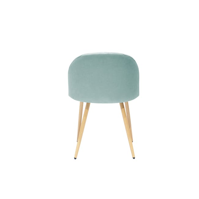 Chloe Dining Chair - Oak, Aquamarine - 2