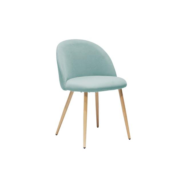 Chloe Dining Chair - Oak, Aquamarine - 0