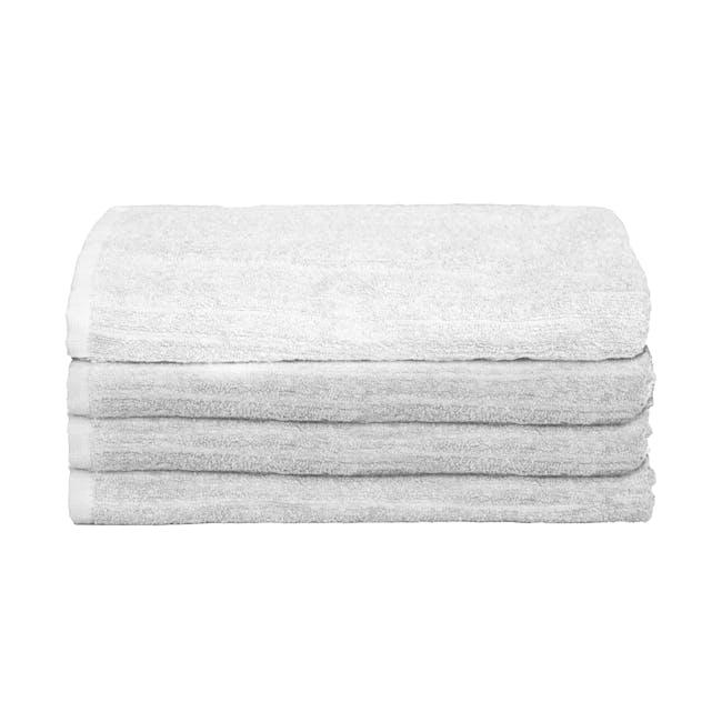 EVERYDAY Bath Towel - White (Set of 4) - 0