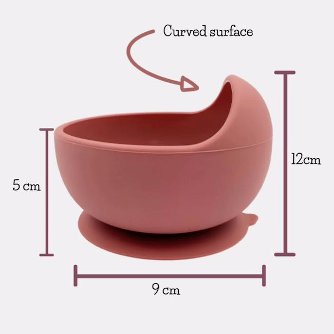 Little Fawns Silicone Suction Bowl - Pink Blush - 3