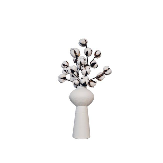 Tower Floral Clay Vase - Design 1 - 0