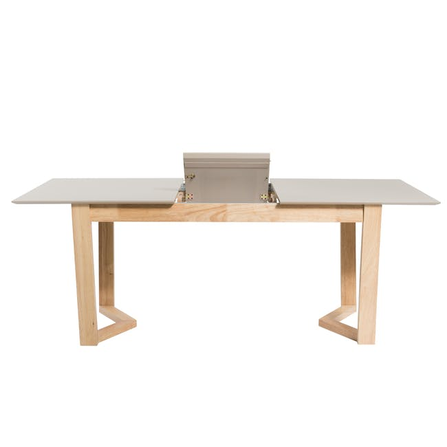 Meera Extendable Dining Table 1.6m - Natural, Taupe Grey - 10