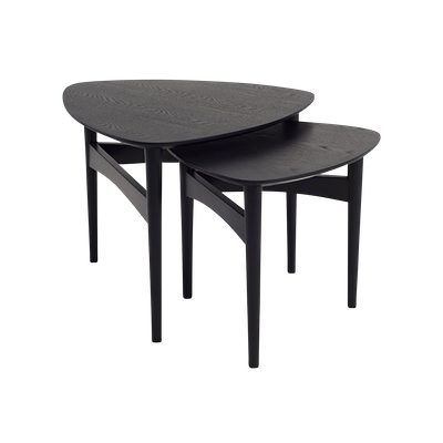 Poet Occasional Table Set - Black - Image 1