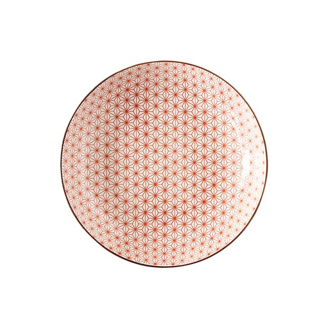Table Matters Starry Red Coupe Plate - 0