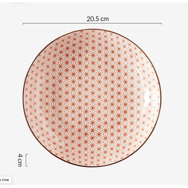 Table Matters Starry Red Coupe Plate - 1