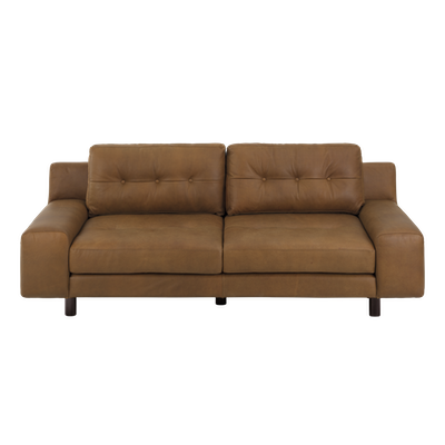 Wyatt 3 Seater Sofa - Nubuck Latte (Premium Leather) - Image 2