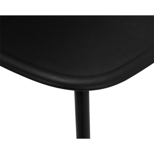 Lyon Bar Chair - Black, Carbon - 4