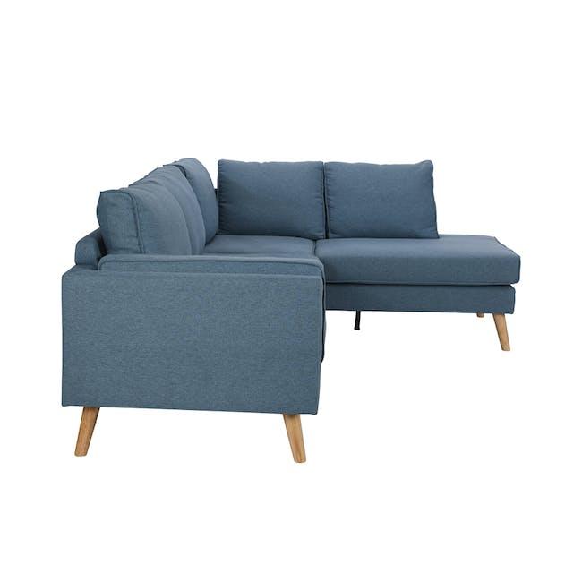 Paige L-Shaped Corner Sofa - Blue - 3