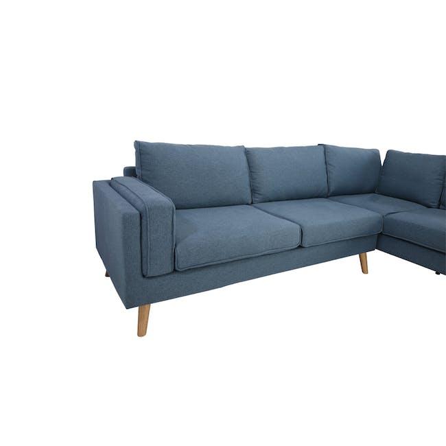 Paige L-Shaped Corner Sofa - Blue - 5