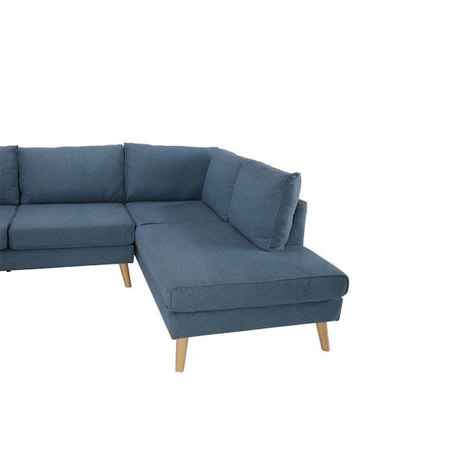 Paige L-Shaped Corner Sofa - Blue - 4