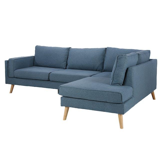 Paige L-Shaped Corner Sofa - Blue - 6